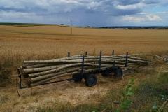 Elektrický svážeč dřeva uveze až dva prm v celých délkách