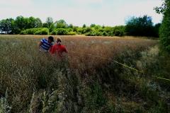 Odběr vzorků půdy