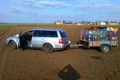 A už se jede domů z druhého výjezdu. Po čtyřech dnech bylo hotových 9 hektarů.